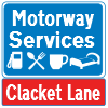 Clacket Lane Services road sign