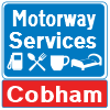Cobham Services road sign