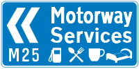Thurrock Services road sign