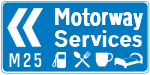 find the nearest M25 motorway services